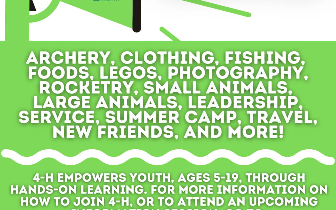 Join Kenosha County 4-H Enrollment for the 2020-2021 4-H year is now open